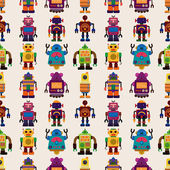 Seamless Robot pattern — Vector de stock