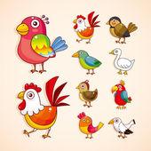 卡通小鸟图标集 — 图库矢量图片
