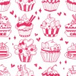 Seamless doodle cake pattern — Stock Vector #19911219