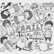 Stock Vector: Doodle family element
