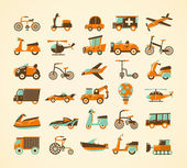 Retro transport icons set — Cтоковый вектор
