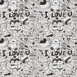 Seamless love pattern — Vector de stock