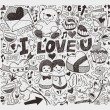 Doodle love element — Stock vektor