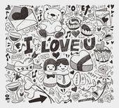 Doodle love element — Stock Vector