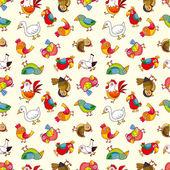 Seamless bird pattern — Stock Vector