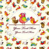 Bird card — Stock Vector