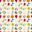 Seamless sport element pattern - Stock Vector