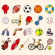 Sport element icons set - Stock Vector