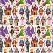 Stockvector : Seamless Fairy tale pattern
