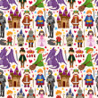 Seamless Fairy tale pattern — Vecteur #24136189