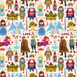 Seamless Fairy tale pattern — Stockvector #24177565
