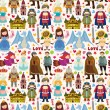 Seamless Fairy tale pattern — Vecteur #24177565