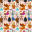 Seamless Fairy tale pattern — Vecteur #24284345