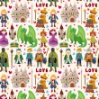 Royalty-Free Stock Immagine Vettoriale: Seamless Fairy tale pattern