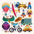 Royalty-Free Stock Vector Image: Set of transport icons