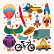 Royalty-Free Stock Immagine Vettoriale: Set of transport icons