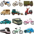 Stock Vector: Set of transport icons