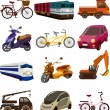 Stockvector : Set of transport icons