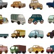 Royalty-Free Stock Векторное изображение: Set of trandport car icons