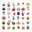 Set of Christmas icons — Stock Vector #25122185