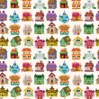 Royalty-Free Stock 矢量图片: Seamless house pattern