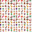 Seamless Christmas pattern — Stock Vector #25328389