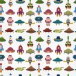 Seamless UFO Rocket pattern — Stock Photo