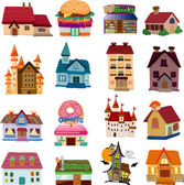 Set of house icons — Stock Vector