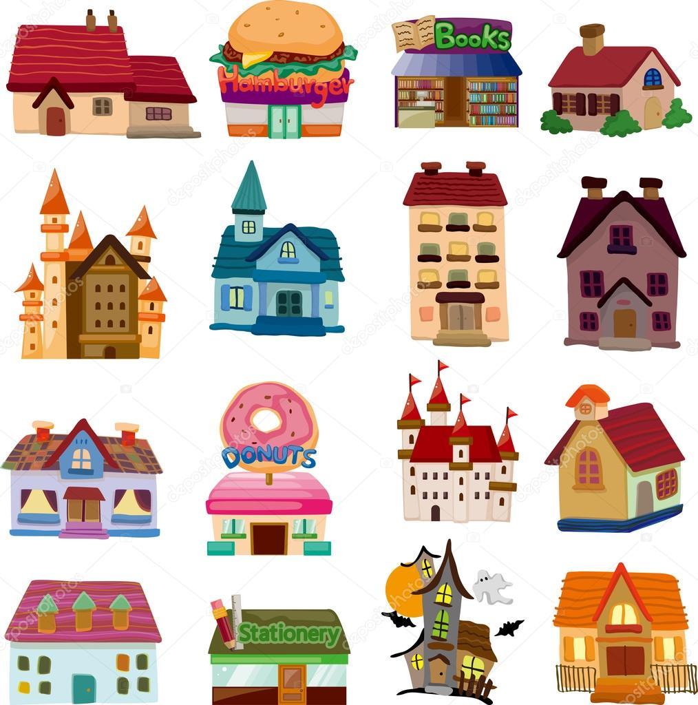 套房子图标 — 矢量图片作者 mocoo2003