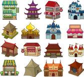 Set van huis pictogrammen — Stockvector