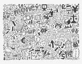 Doodle Finance pattern — Stock Vector
