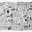 Stock vektor: Doodle business element