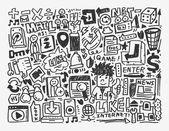 Doodle network element — Vecteur