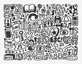 Doodle network element — Stock Vector