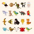Set of animal icons — Stock Vector #26695667
