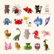 Set of animal icons — Stock Vector #26695671