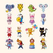 Conjunto de ícones animais — Vetor de Stock