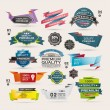 Set of Retro  ribbons and labels ,Origami banners — Stock Vector