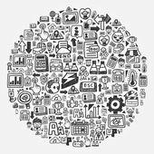 涂鸦图案-web 圈 — 图库矢量图片