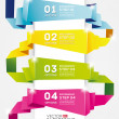 Infographic Design template,origami banner — Stock Vector