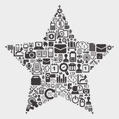 Wzór gwiazdy sieci — Wektor stockowy