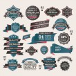 Set Of Vintage labels ribbon , retro style . design elements. — Imagens vectoriais em stock