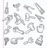 Doodle-Werkzeug-Symbol — Stockvektor