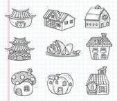Doodle house icon — Stock Vector