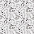 Seamless stationery pattern background — Stock Photo