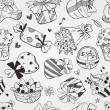 Pattern doodle birthday seamless — Stock Photo #28557125