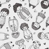 Seamless family pattern — Stock Photo