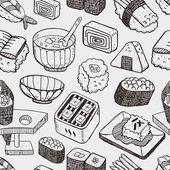 Seamless Japanese sushi pattern — Stock Vector