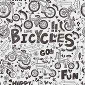Wzór rower bez szwu — Wektor stockowy