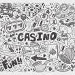 Stock Vector: Doodle casino element